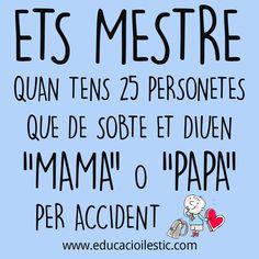 Ser mestre és fantàstic! Classroom Organisation, Spanish Activities, Slogan, Preschool, Teacher, Website, Reading, Memes, Quotes