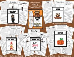 39 Page Unit Contains: 5 Reading Comprehension Passages for Close Reading. 100% Aligned to Common Core Standards.   This unit is designed to encourage students to cite textual evidence, stop and think about what is read and answer in complete sentences to prepare for PARCC.   Each passage has 4 activities (2 Graphic Organizers and 2 Sheets with Text Dependent Questions)  Fall/Autumn/October Titles: Autumn Pumpkins Columbus Day Christopher Columbus Fire Safety