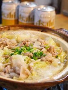 [COOKPAD]豚とキャベツのニンニク塩バター鍋