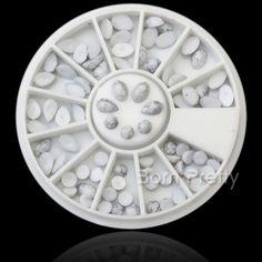 $2.65 4mm-6mm 3D Nail Decoration Flatback Nail Art Studs For UV Gel Nail Art - BornPrettyStore.com