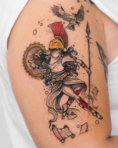 mythology tattoo Athena