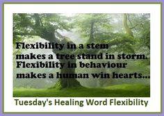 Tuesday's Healing Word Flexibility balancedwomensblog.com