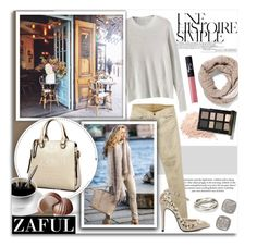 """""""Zaful 111"""" by melissa-de-souza ❤ liked on Polyvore featuring Une, H&M, 7 For All Mankind, White House Black Market, NARS Cosmetics, Bobbi Brown Cosmetics, River Island, David Yurman and zaful"""