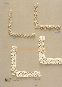 arts and craft books: motif & edging designs magazine, free crochet books - crafts ideas - crafts for kids Crochet Doily Rug, Crochet Motifs, Crochet Books, Crochet Squares, Knit Or Crochet, Easy Crochet, Crochet Flowers, Crochet Boarders, Crochet Edging Patterns