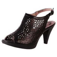 Laser cut peep toes in Black from The Shoe Link www.theshoelink.com.au