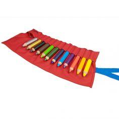 Dicke Farbstifte 3 plus (Der 3plus ist Farb-, Aquarell- und Wachsmalstift in einem) von Lamy, ab 3 Jahre oder früher