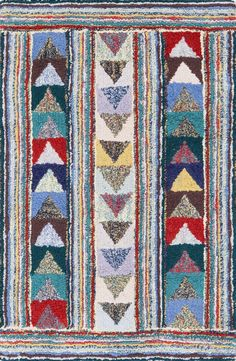 Cotton Hooked Follow the Arrows Rug