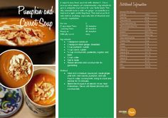 Pumpkin and Carrot Soup.  http://vegetarianbody.com/wp-content/uploads/recipe-volume-1.pdf