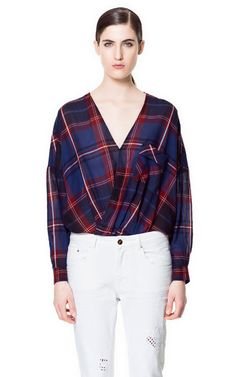 Image 1 of CROSSOVER BLOUSE from Zara