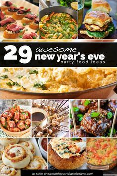 Are you busy trying to finalize your menu for New Year's Eve? Appetizers are a great choice! Make a few of these ahead of time to find your favorites. Wondering what our favorites are? It's a toss up! Those bacon bombs look amazing, as do the guacamole deviled eggs, 3... #featured #food #holiday
