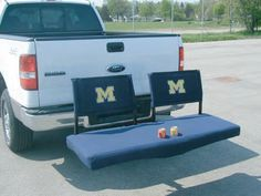 Rivalry LLC - The Ultimate Tailgate Collection  Taking the cargo carrier to a whole new level! Carry your gear to the tailgate or your favorite hunting/fishing spot, then convert it to a comfortable seat. You can also show off your school colors.    - 500lb weight rating   - Backrests are detachable  $299.00