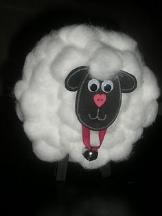 Cotton Ball Sheep - more complex than the activity I usually use but these ones stand up - love those clothespin ideas for fine motor!