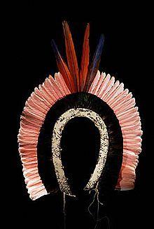 Museologia - Arte Plumária - Cocar Yawalapiti
