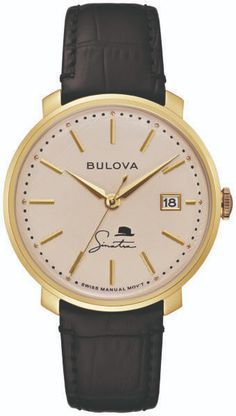 Bulova Unveils Frank Sinatra Collection: Four New Designs On 10 New Watches | WatchTime - USA's No.1 Watch Magazine Bulova Watches, The Best Is Yet To Come, Black Accents, Stainless Steel Case, Gold Watch, Vintage Inspired, Jewels, Magazine, Collection
