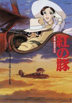 """""""Kurenai no Buta (Porco Rosso)"""" (1992). COUNTRY: Japan. DIRECTOR: Hayao Miyazaki. SCREENWRITER: Hayao Miyazaki. COMPOSER: Jô Hisaishi. (Studio Ghibli)"""