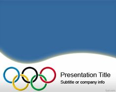 Olympic Rings PowerPoint Template is a free PPT template designed for Olympic Games