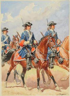 GARDES DU CORPS DE LA MAISON MILITAIRE DU ROI, fin XVII°, compagnie écossaise, by Lucien Rousselot.