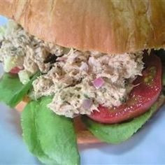 Carrie's Garlic Pesto Tuna Salad Sandwiches Allrecipes.com