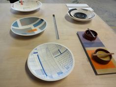 Stoke BCB      Vicky Shaw      Lovely clean tableware with gorgeous linear patterns.