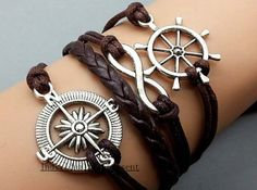 Infinity bracelet compass the rudder by Individualitypresent, $4.99