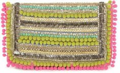 diy ☆ Pom Pom Embellishment Clutch Bag - Matthew Williamson