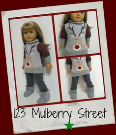 American girl doll clothes Sweater Girls Hey by 123MULBERRYSTREET