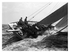Yacht in Race, 1937 Print at AllPosters.com