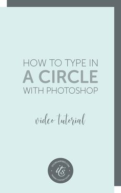Have you ever seen text running around the edge of a circle or along a curved line? You may have seen it on a button or badge on an image, or on a blog or social media image.Today's video will introduce you to paths and show you how to create a circular badge for your website or social media images. itsorganised.com | photoshop video tutorials