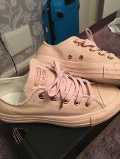 converse all star hi leather pastel rose tan exclusive