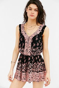 Ecote Magdelina Romper - Urban Outfitters