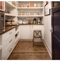 Beautiful white pantry