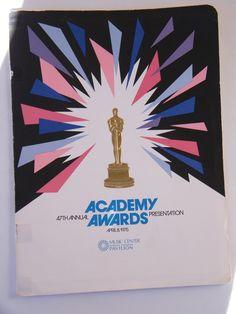 ACADEMY AWARDS PROGRAM 47th Oscars Francis Ford Coppola Robert De Niro 1975 NICE    eBay