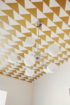 patterned ceiling in Cruz's Modern Geometric Masterpiece  Nursery