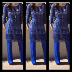 NWT Royal Blue Lace Dress Tunic Classy lace tunic/dress in a rich Royal blue. Hits right above knee, can be wore with a slip for a dressed up look or over pants for a bohemian look. This garment is not lined. Umgee Dresses Midi