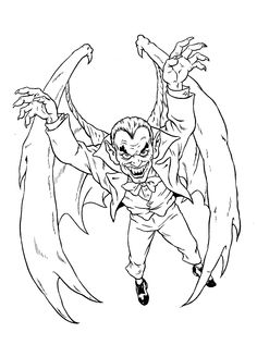 Monsters And Villains Coloring Pages