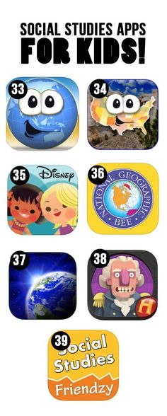Best Social Studies Apps for Kids- my favorite is the geography app to learn the. Best Social Studies Apps for Kids- my favorite is the geography app to learn the. 3rd Grade Social Studies, Kindergarten Social Studies, Social Studies Classroom, Social Studies Activities, Teaching Social Studies, Teaching History, History Education, Apps For The Classroom, Apps For Kids