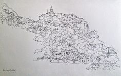 JMA Colin Usher - Pencil sketch of a town in Italy Drawing Sketches, Pencil, Italy, Instagram Posts, Inspiration, Art, Biblical Inspiration, Art Background, Kunst