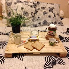 Pallet Breakfast Tray - 125 Awesome DIY Pallet Furniture Ideas | 101 Pallet Ideas - Part 7