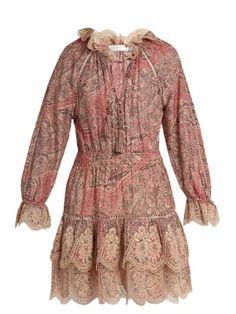 Tulsi paisley-print cotton and silk-blend dress   Zimmermann   MATCHESFASHION.COM US