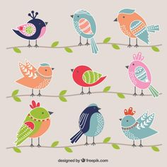66 best Ideas for bird cartoon design illustrations Doodle Art, Bird Doodle, Vogel Quilt, Bird Quilt, Bird Illustration, Design Illustrations, Bird Drawings, Cute Birds, Fabric Painting