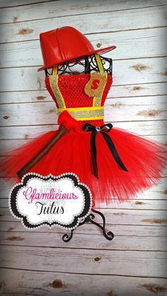 firefighter tutu dress costume firefighter by glamlicioustutus Tutu Costumes, Halloween Costumes, Scarecrow Costume, Firefighter Wedding, Baby Kostüm, Kids Tutu, Tutu Outfits, Tutu Dresses, Glitter Crafts