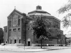St. Benedict's Catholic Church, on Church Street off Woodward, was founded in 1915. It is considered one of the historic buildlings in Highland Park, along with McGregor Library and the Ford plant on Manchester. Circa 1920. Detroit News archive