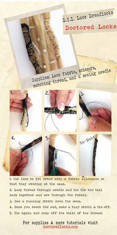 Need a little something-something to liven up your awesome dreads? Lace 'em up! #Dreadlocks #Lace #DIY