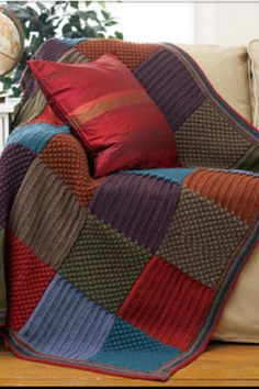 Knit afghan pattern - knit blanket pattern - knitted patterns on Etsy, $4.59