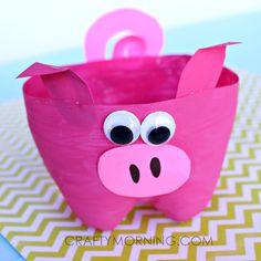 2-Liter Bottle Pig Craft for Kids to Make