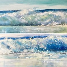 Wave studies in acrylic. Giclee prints available from Sue North Coast, Cornwall, Giclee Print, Waves, Sea, Prints, Outdoor, Outdoors, Ocean