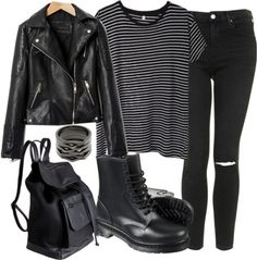 The 1975 Concert in November Untitled #1046 by aracelymejiax featuring topshop jeans  R13 black and white shirt / Black velvet jacket / Topshop jeans / Black velvet shoes, $25 / Pieces black rucksack, $53 / Repossi 18 karat gold jewelry, $6,310