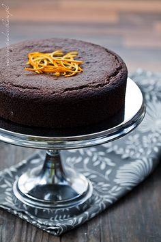 Ciasto czekoladowo - pomarańczowe (bezglutenowe) | Moje Wypieki