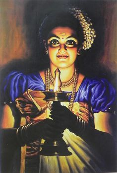 Lady with a Lamp - Kerala Style (Reprint on Paper - Unframed))