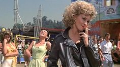 """Some things about the movie Grease we never noticed as kids, but as adults stand out. For example the smoking hot seduction of DJ Vince Fontaine by Marty Maraschino. Vince even tries to Cold Cosby her with a """"aspirin in her coke"""". My Fair Lady, Grease 1978, Grease 2, Grease Is The Word, Grease Live, Brighton Rock, Sandra Dee, Gifs, Fan Theories"""